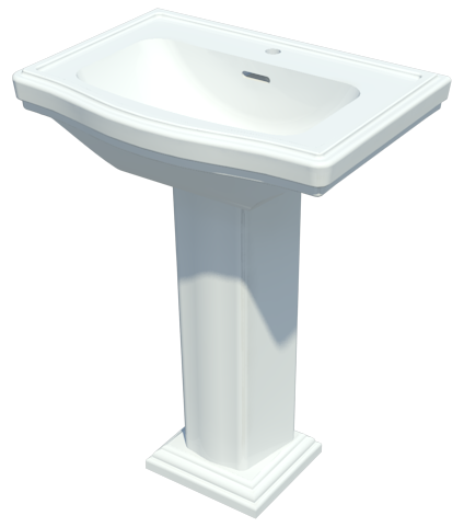 Toto 174 Clayton Pedestal Lavatory Engworks Chicago